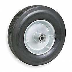 Solid Rubber Whl, 10 In, 350 lb