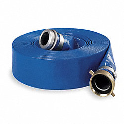 Discharge Hose, 2 In ID x 50 Ft, 80 PSI