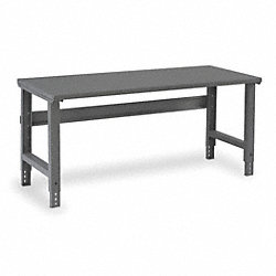 Workbench, 72Wx30Dx29-3/8 to 36-7/8 in. H