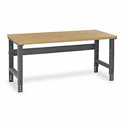Workbench, 72Wx30Dx29-5/8 to 37-1/8 in. H
