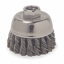 Knot Cup Brush, 2 3/4 In Dia, 0.0200 Wire