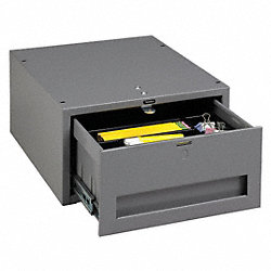 Stackable Drawer, 15W x 18D x 8-1/4H, Gray