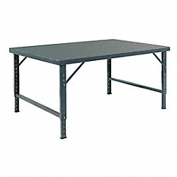 Folding Workbench, 96Wx48Dx28 to 42 in. H