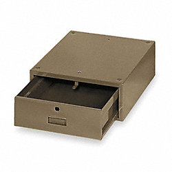 Stackable Drawer, 17  x 17D x 6-1/2H, Tan