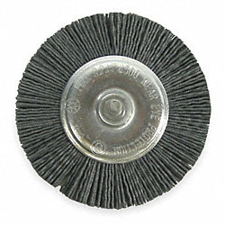 Wheel Brush, 4 In Dia, Nylon (X-Coarse)