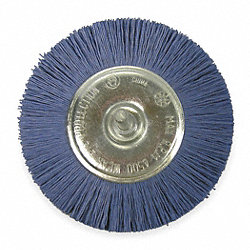 Wheel Brush, 4 In Dia, Nylon Medium/Fine)