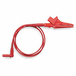 Alligator Clip Test Lead, 36 In. L, Red