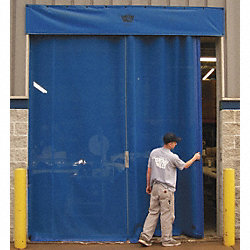 Mesh Door, Manual Slide, 12 Ft  x 10 Ft