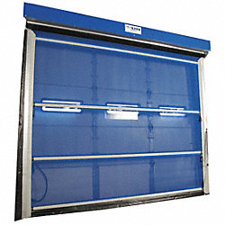 Mesh Door, Spring Assist, 10 Ft H x 10 Ft