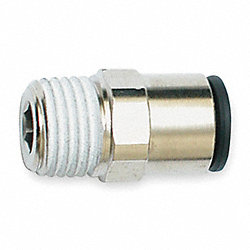 Male Connector, 1/8 In OD, 290 PSI, PK 10