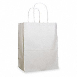 Paper Bag, White, 8 In. H, PK 250