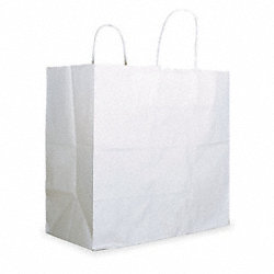 Paper Bag, 13 In. H, White, PK 250