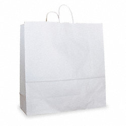Paper Bag, 16 In. H, White, PK 250
