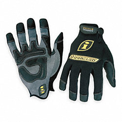 Mechanics Gloves, L, Black, PR
