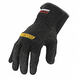 Heat Resist Gloves, Black, XL, Kevlar, PR