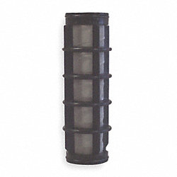 Filter Screen, Black, 5 In L, Dia 1 1/4 In