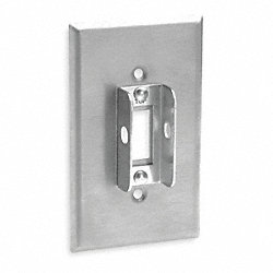 Lockout Wallplate, Single Gang Toggle, SS