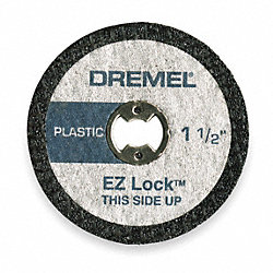 E Z Lock Cut Off Wheel, 1 1/2 In Dia, Pk 5