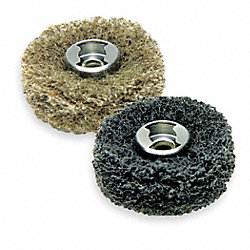 EZ Lock Abrasive Buffs, 1 In D, 7/64T, Pk 2