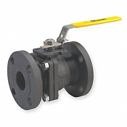 Ball Valve, 2 PC, Carbon Steel, 1 In