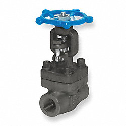 Gate Valve, Carbon Steel, 1 1/2 In NPT