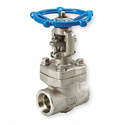 Gate Valve, 316L SS, 2 In Socket Weld