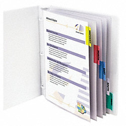 Sheet Protector Set, 8 Tab, Clear, PK8
