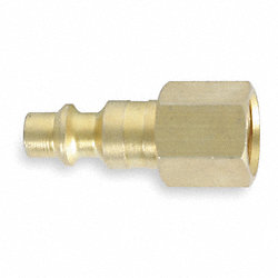 Coupler Plug, 1/4 FNPT, 1/4 Body, Brass