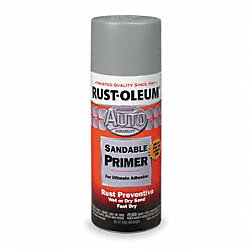 Spray Primer, Automotive, Light Gray, 12 Oz