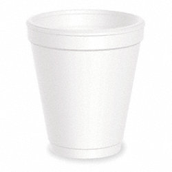 Cold/Hot Cups, 8 Oz, White, Pk1000
