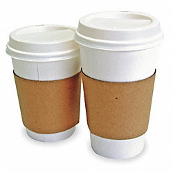 Hot Cup Sleeves, L, Corrugated, Pk1200