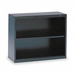 Welded Steel Bookcase, H 28, 1 Shelf, Black