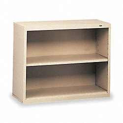 Welded Steel Bookcase, H 28, 1 Shelf, Putty