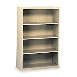 Welded Steel Bookcase, H 52, 3 Shelf, Putty