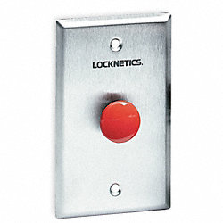 Standard Push Button, Red, Steel