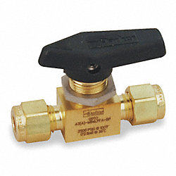 Mini Ball Valve, In Line, 3/8 In Tube Sz