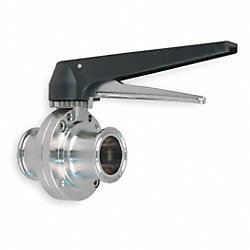 Butterfly Valve, Clamp, 1 1/2 In, 316L SS