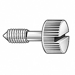 Panel Screw, Knurl, 10-32x3/4 L, Pk 5