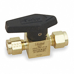 Rotary Plug Valve, 3/8 In, Brass, 1/4 Turn