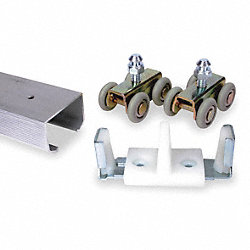 Door Hanger Kit, Zinc, 16 Wheels