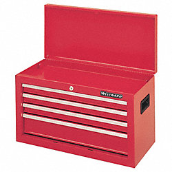 Tool Chest, 4 Drawer, 26 In, Red