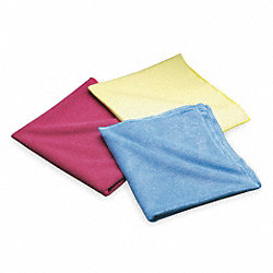 Cloth, Microfiber, Blue, 16 x 16 In, PK 20