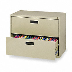 Cabinet, Lateral File, 26 5/8Hx30W, Putty
