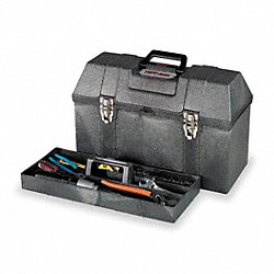 Tool Box w/Tray, 20Wx8 3/4Dx12 1/2H