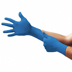 Disposable Gloves, Nitrile, S, Blue, PK100