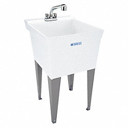 Utility Sink, With Legs And Faucet