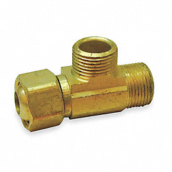 Supply Extender Tee, Brass, 3/8 x 3/8 In
