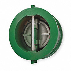 Double Disc Check Valve, 3 In, Flange, Iron