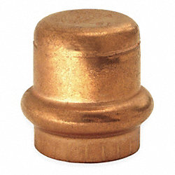 Cap, Connection P, 1 1/4 In, Copper, 200 PSI