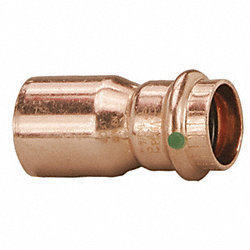 Reducer, 2 x 3/4 In, Copper, 200 PSI